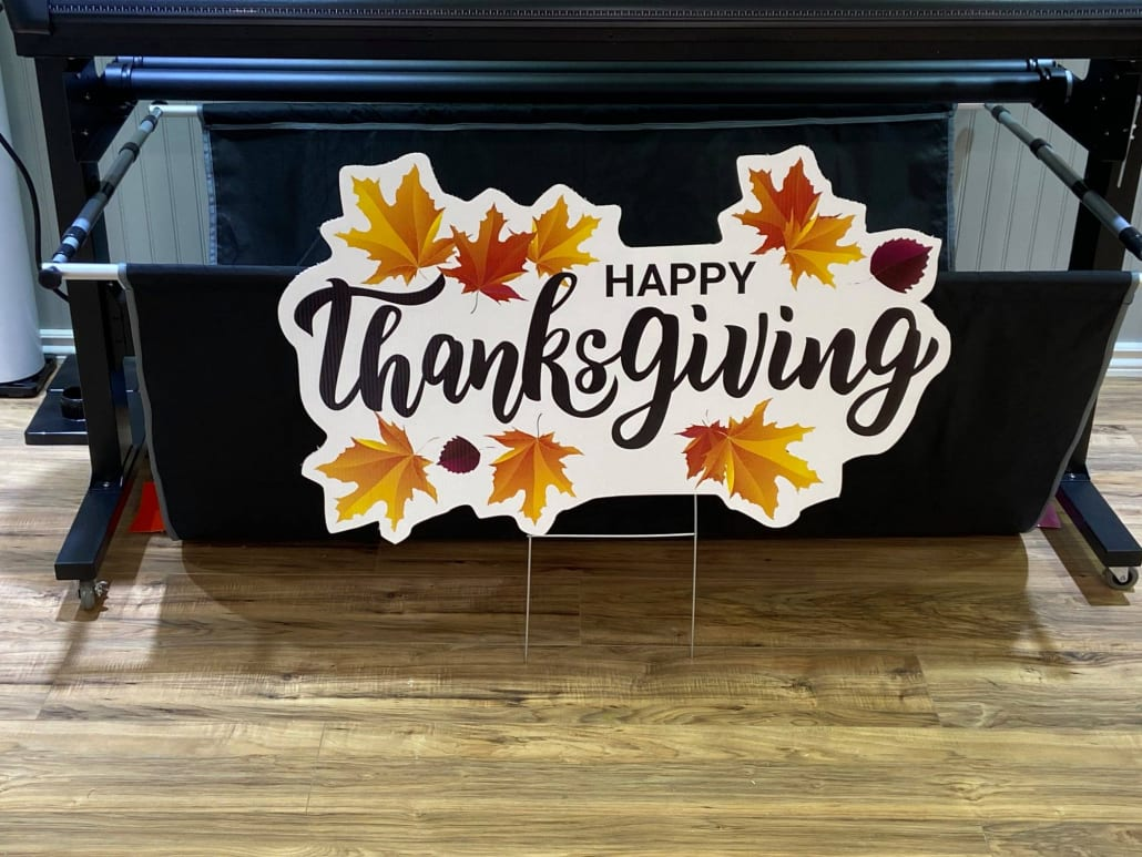 Thanks Giving Holiday Sign Long Island NY 11931